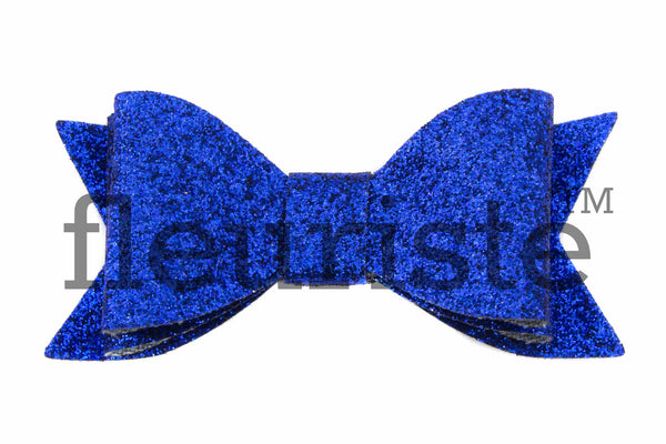 "Double Layer Bow 2.8"" Glitter - Pick Your Color"