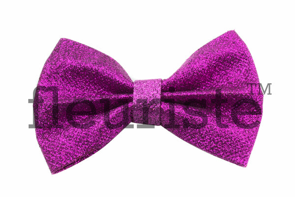 "Glitter Sparkle Hard Large Bows 4.25""  - Pick Your Color"