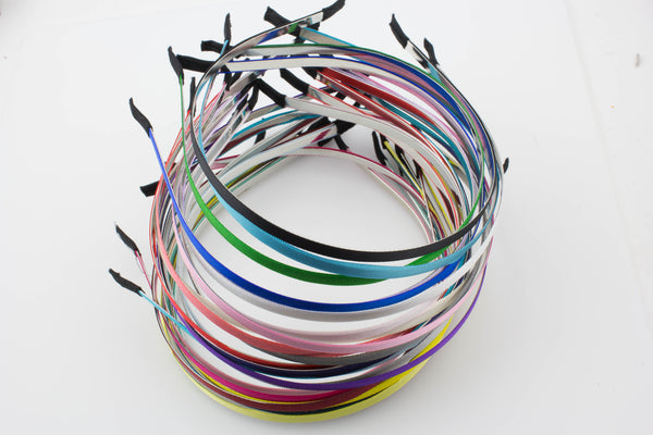 Partially Lined Headband Metal 7 mm- Choose Your Color