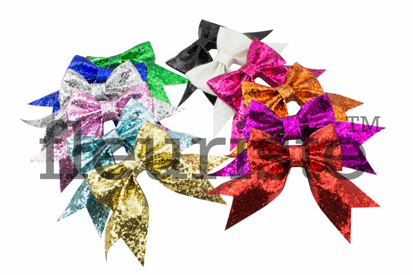 "Glitter Bows with Tails 3"" - Pick Your Color"