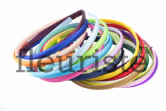 Satin Headband Plastic Covered 10 mm- Choose Your Color