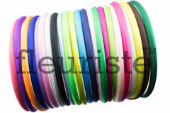 Satin Headband Plastic Covered 7 mm- Choose Your Color
