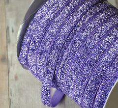 Regular Glitter Elastics by the Yard-Violet