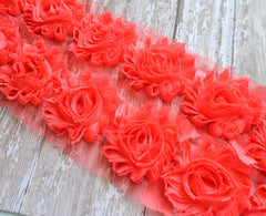 Solid Shabby Rose Trim-Watermelon
