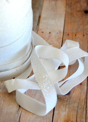 Regular Glitter Elastics by the Yard-White