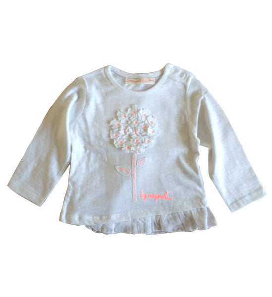 Mayoral Baby Girl Long Sleeve Top White - Brands For Kids