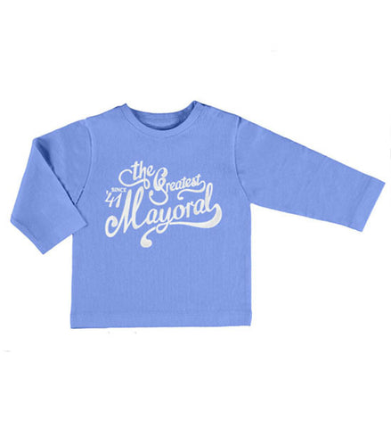 Mayoral Baby Boy Cotton Long Sleeve Tee Lavender