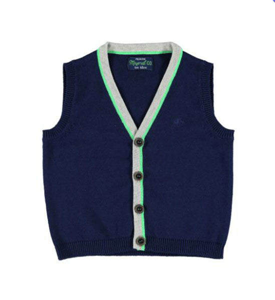 Mayoral Baby Boy Knit Vest Navy - Brands For Kids