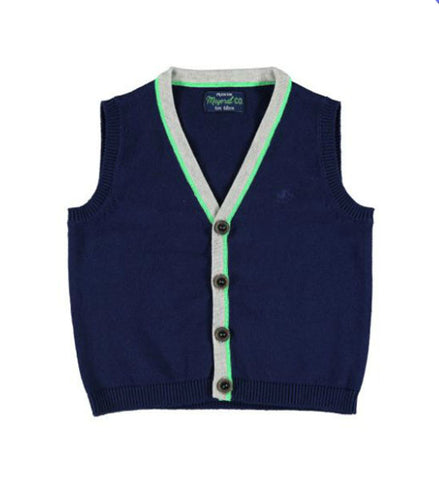 Mayoral Baby Boy Knit Vest Navy