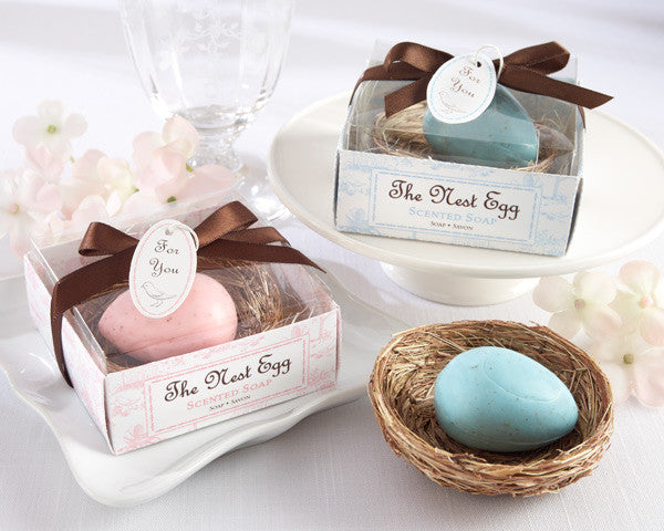 """The Nest Egg"" Scented Egg Soap in Nest (Pink or Blue) - Brands For Kids"
