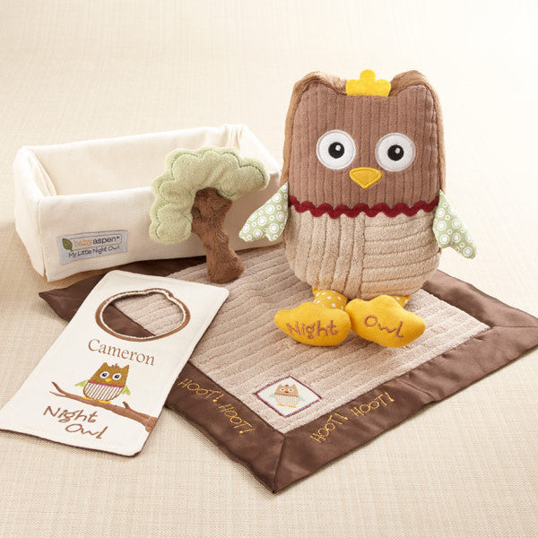 """My Little Night Owl"" Five-Piece Baby Gift Set - Brands For Kids"