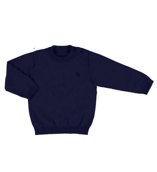 Mayoral Baby Boy Cotton Sweater Navy - Brands For Kids