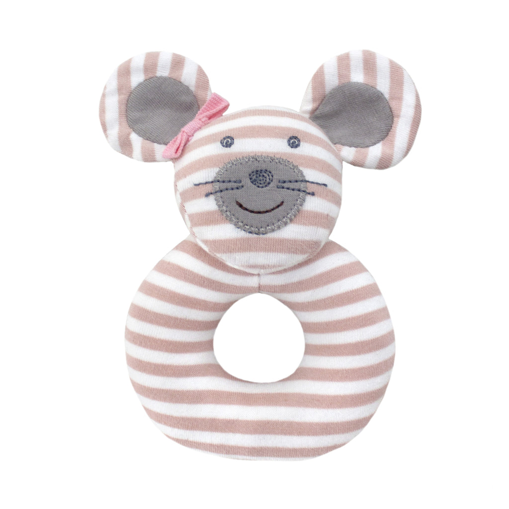 Apple Park Organic Farm Rattle - Ballerina Mouse - Brands For Kids