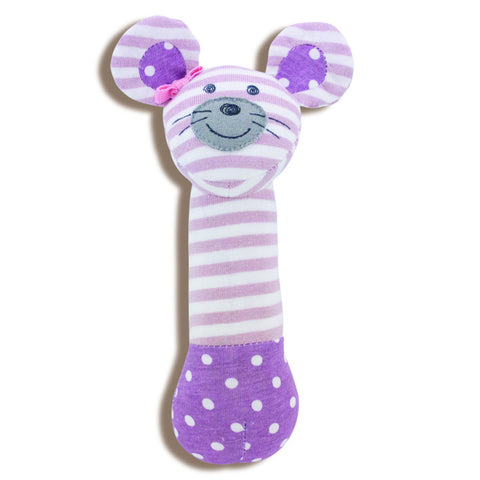 Apple Park Organic Farm Squeaky Toy - Ballerina Mouse