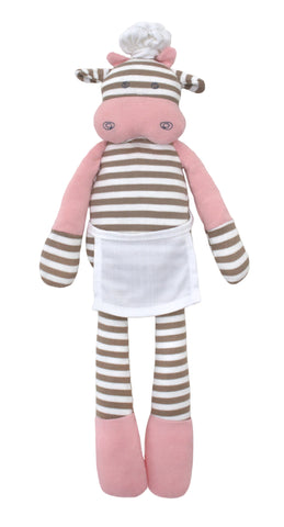 Apple Park Organic Farm Plush Toy - Chef Cow