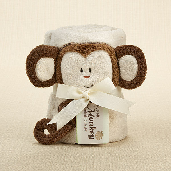 """Hug Me Monkey"" Plush Velour Baby Blanket - Brands For Kids"