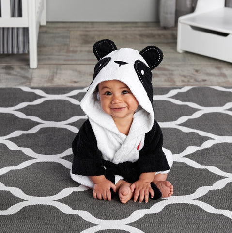 """Pamper Me Panda"" Baby Hooded Spa Robe"