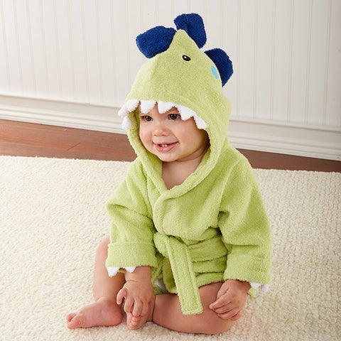 """Splash-a-saurus"" Dinosaur Hooded Baby Spa Robe"