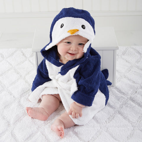 """Wash & Waddle"" Penguin Baby Hooded Spa Robe"