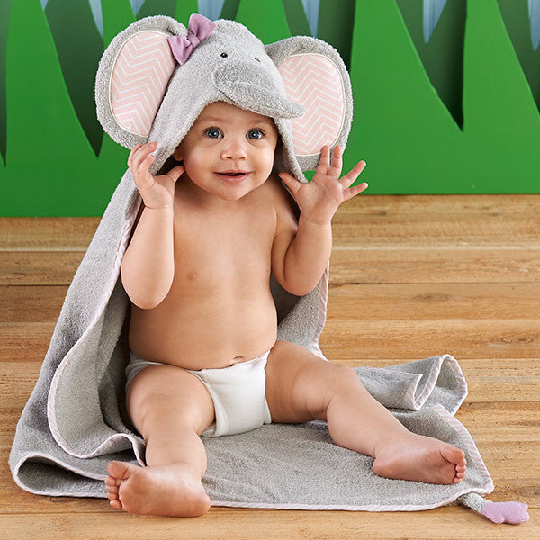 "Baby Aspen ""Splish Splash Elephant Bath"" Spa Hooded Towel - Brands For Kids"