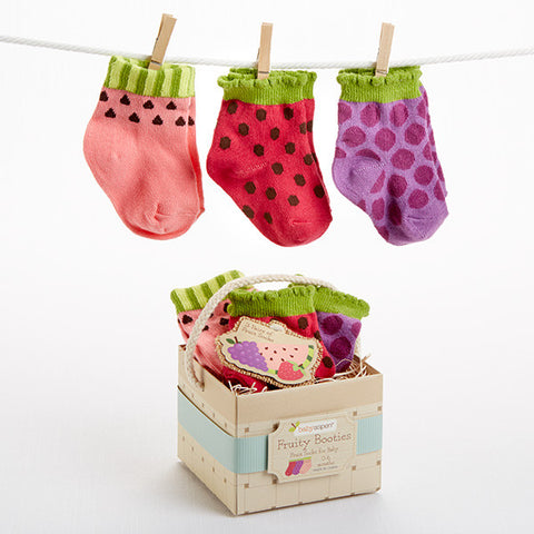 "3 Pairs of Baby Socks ""Fruity Booties"""