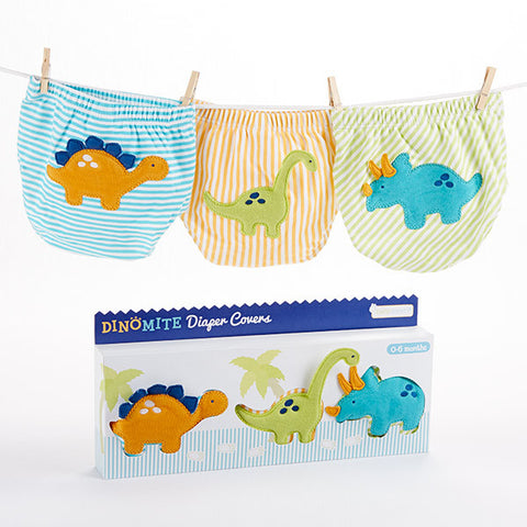 """DinoMite"" 3-Piece Baby Diaper Cover Gift Set"