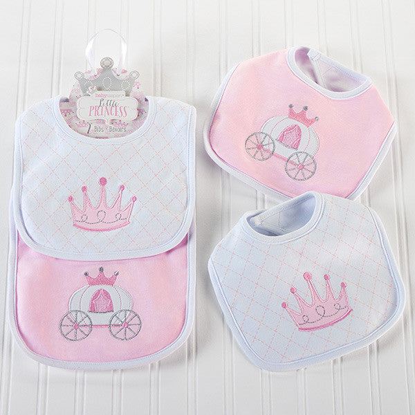 """Little Princess"" Baby Girl Bibs Gift Set - Brands For Kids"