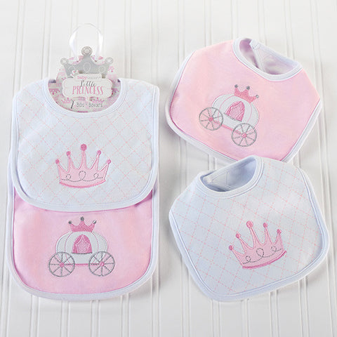 """Little Princess"" Baby Girl Bibs Gift Set"