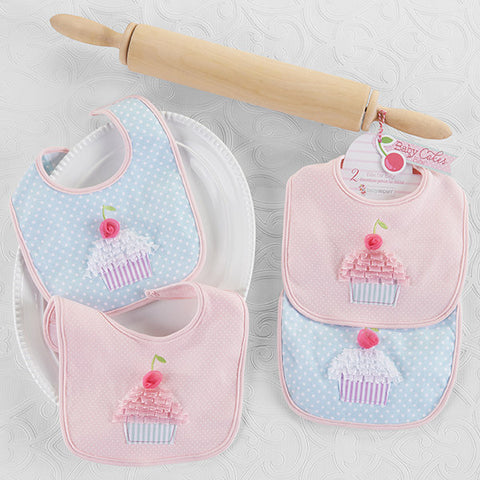 "Baby Aspen ""Baby Cakes"" Two-Piece Bib Gift Set"
