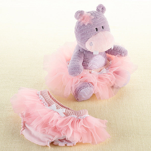 "Baby Aspen ""Lady Lulu and Baby's Tutu"" Plush Plus Bloomer for Baby Girl - Brands For Kids"