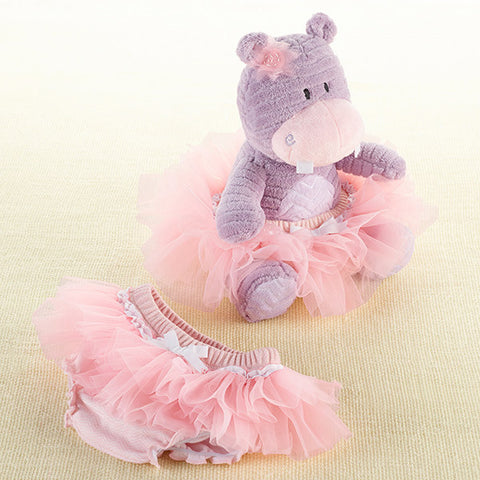 "Baby Aspen ""Lady Lulu and Baby's Tutu"" Plush Plus Bloomer for Baby Girl"