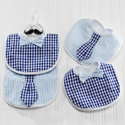 """Little Man"" Baby Boy Bibs Gift Set"
