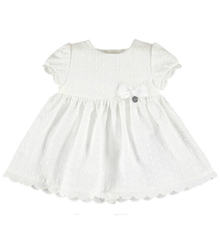 Mayoral Baby Girls Embroidered Flower Dress White