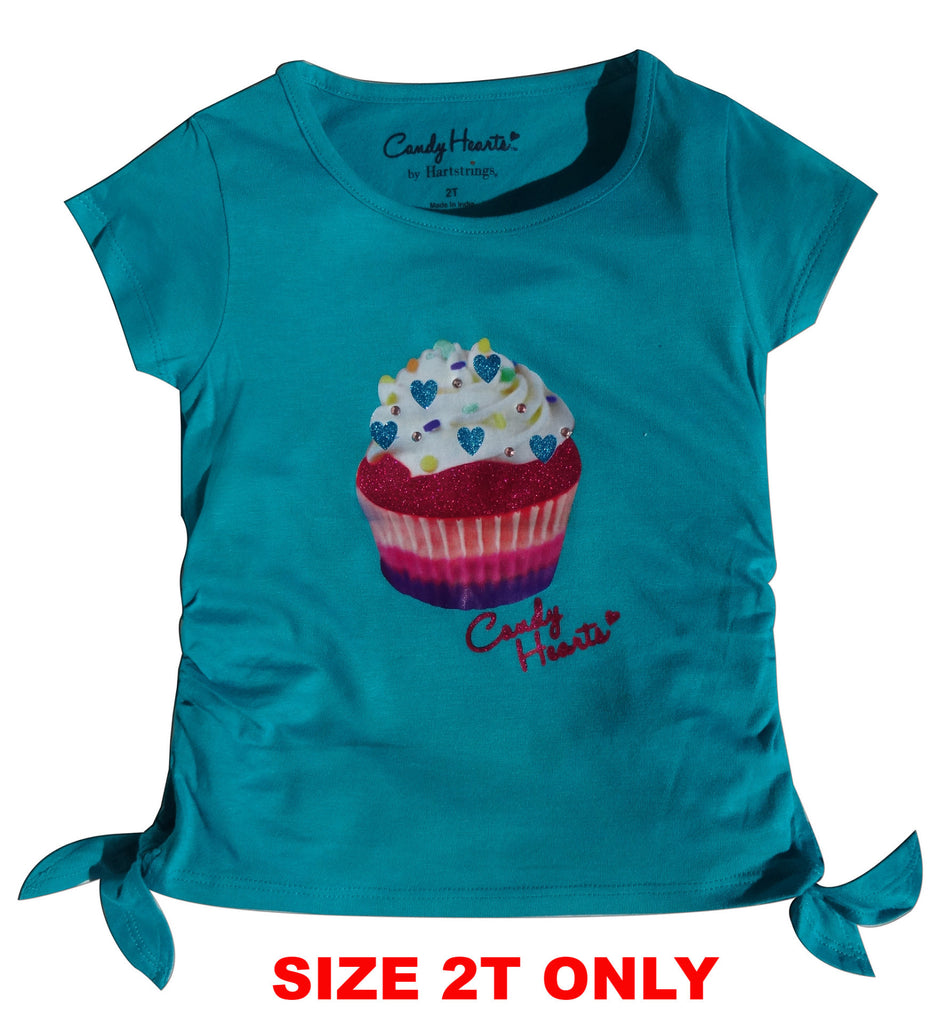 Candy Hearts Girls Cup Cake Tee - Brands For Kids