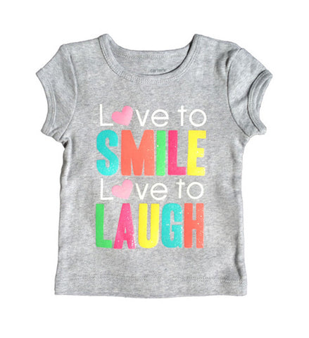 Smile & Dance Cap Sleeve Graphic Tee Baby Girl