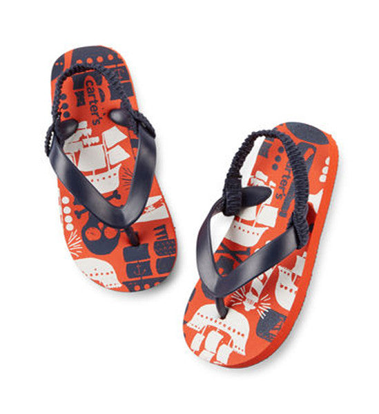 Carter's Boys Pirates Flip Flops