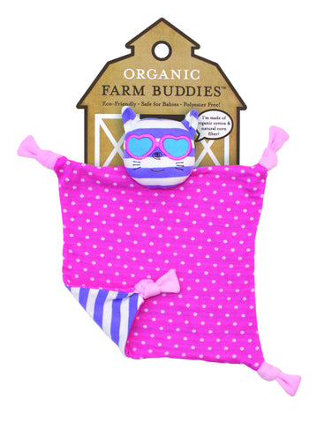 Apple Park Organic Baby Farm Blankie - Catnap Kitty