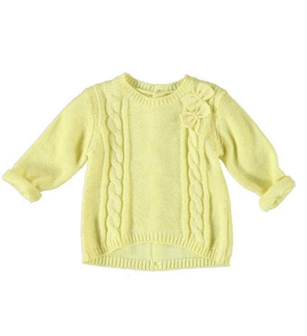 Mayoral Baby Girl Knit Pullover Yellow