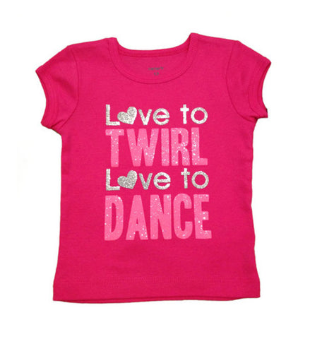 Love to Dance Cap Sleeve Graphic Tee Baby Girl