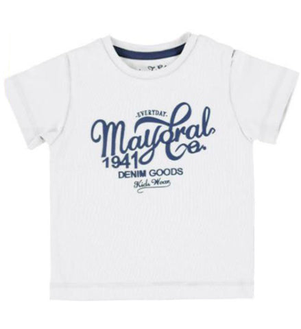 Mayoral Baby Boy Basic T-Shirt White
