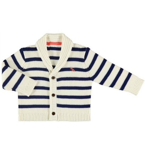 Mayoral Baby Boy Shawl Collar Striped Cardigan - Brands For Kids