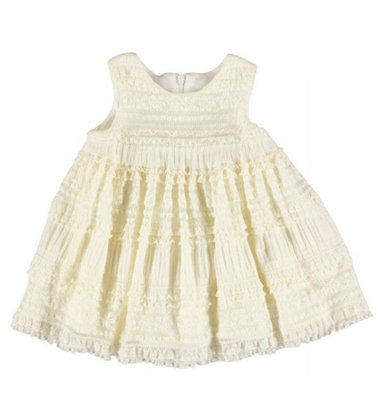 Mayoral Baby Girl Lace Dress Ivory