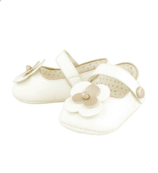 Mayoral Beautiful Baby Girl Mary Jane Shoes Beige Gold - Brands For Kids