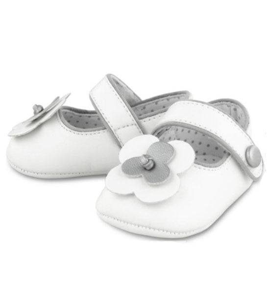 Mayoral Beautiful Baby Girl Mary Jane Shoes White - Brands For Kids