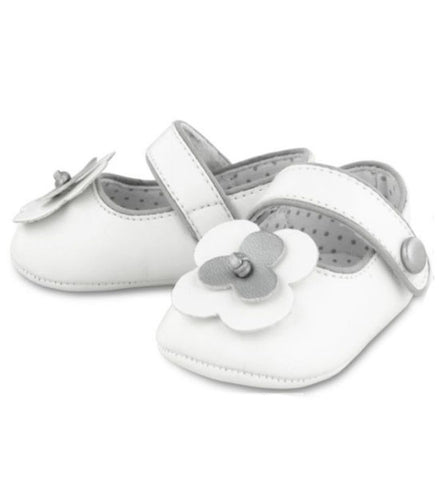 Mayoral Beautiful Baby Girl Mary Jane Shoes White