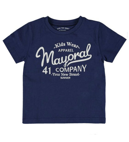 Mayoral Boy's Basic T-Shirt Denim