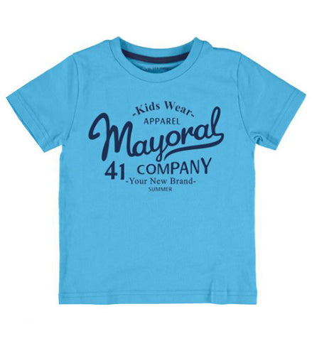 Mayoral Boy's Basic T-Shirt Turqouise