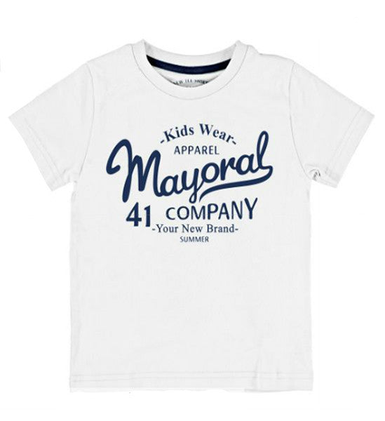 Mayoral Boy's Basic T-Shirt White - Brands For Kids