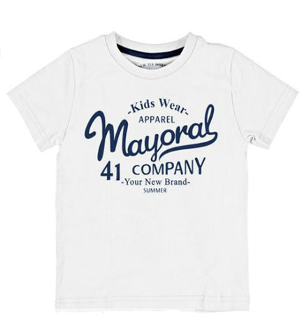 Mayoral Boy's Basic T-Shirt White