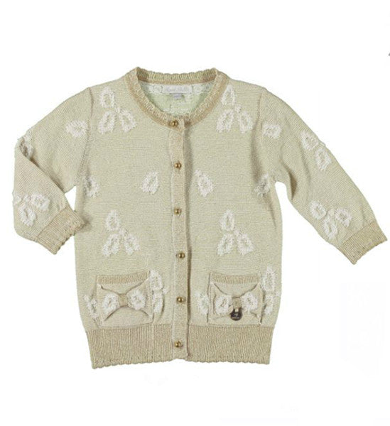 Mayoral Girls Knot Cardigan Beige - Brands For Kids
